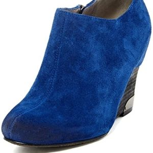 Vince Camuto Hamil Suede Leather Ankle Wedge Boots